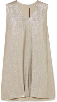 Rick Owens Lamé Mini Dress - Silver