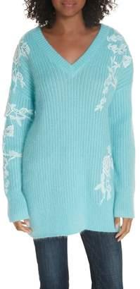 Lewit Lace Applique Tunic Sweater