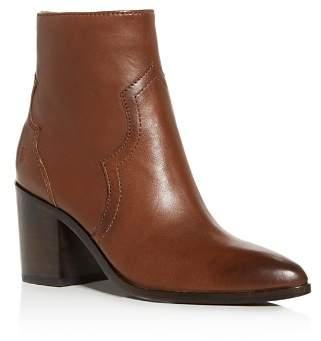 Frye Women's Flynn Leather Western Block-Heel Booties