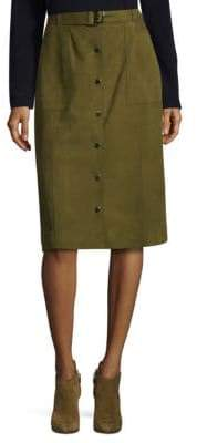 Lafayette 148 New York Orla Suede Skirt