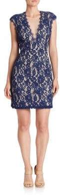 Aidan Mattox Back Cutout Lace Dress