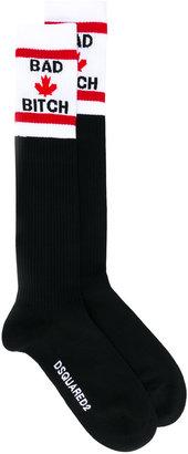Dsquared2 Bad Bitch socks $90 thestylecure.com