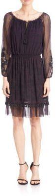 Elie Tahari Olsen Silk Tassel Hem Dress $498 thestylecure.com