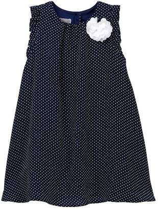 Pippa Pastourelle by and Julie Boarder Embroidered Ruffle Sleeve Dress (Toddler & Little Girls)