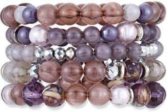 Lydell NYC Beaded Stretch Bracelets, Set of 5