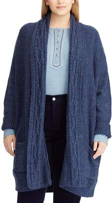 Chaps Plus Size Cotton-Blend Shawl Cardigan
