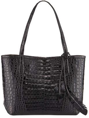 Nancy Gonzalez Erica Small Crocodile Leaf Tote Bag