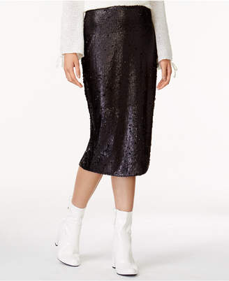 MinkPink Sequin Pencil Skirt