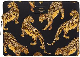Wouf - Black Leopard Laptop Case