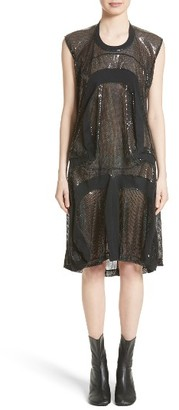 Women's Junya Watanabe Sequin Tulle Jersey Dress $1,455 thestylecure.com
