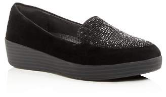 FitFlop Sparkly Suede Sneaker Loafers