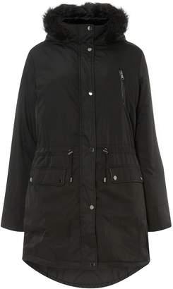 Dorothy Perkins Womens **Dp Curve Black Parka Coat