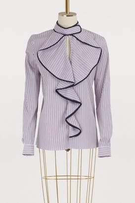 Stella Jean Manica Lunga cotton blouse