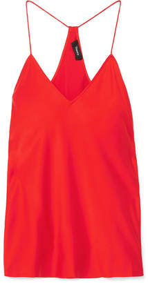 Theory Silk-satin Camisole - Red