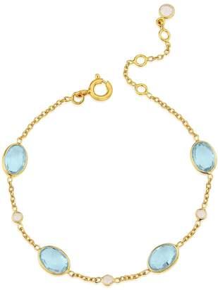 Auree Jewellery - Cannes Blue Topaz & 18Ct Gold Vermeil Bracelet