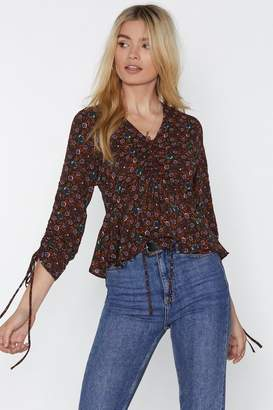 Nasty Gal Thanks Bud No Thanks Floral Blouse