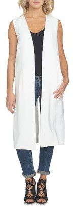 Women's 1.state Long Open Front Vest $119 thestylecure.com