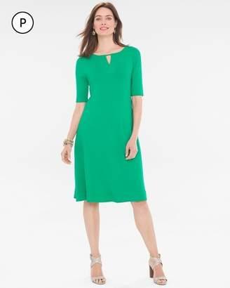 Petite Solid Keyhole Dress