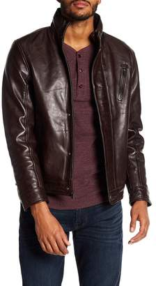 BOSTON HARBOUR VINTAGE Stand Collar Lamb Leather Jacket