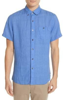 Todd Snyder Short Sleeve Woven Linen Shirt