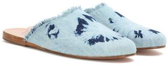 Ancient Greek Sandals Pasoumi denim slippers