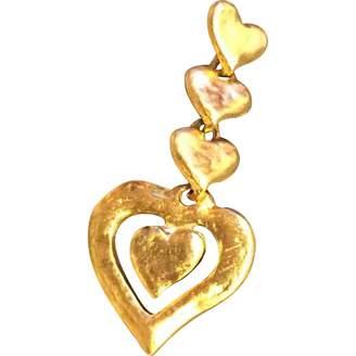 Saint Laurent Vintage Gold Metal Pendants