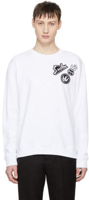 McQ White Skater Swallow Badge Sweatshirt