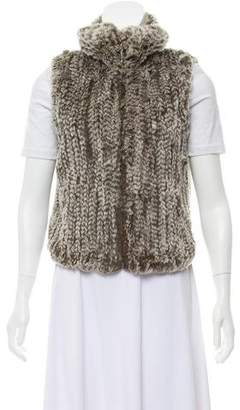 Trilogy Knitted Fur Vest