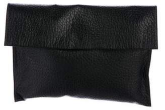 Marni Grained Leather Fold-Over Clutch