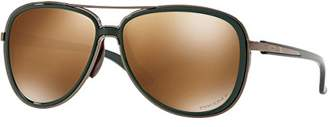 Oakley Women's Split Time Non-Polarized Iridium Aviator Sunglasses