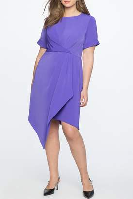 ELOQUII Draped Front Dress (Plus Size)