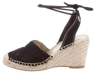 Stella McCartney Canvas Espadrille Wedges