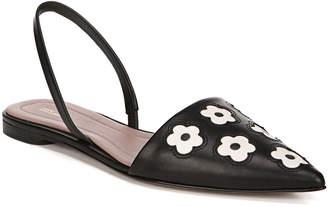 Diane von Furstenberg Koko Floral Leather Slingback Flats