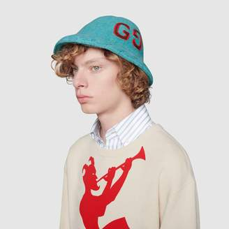 Gucci Wool hat with GG embroidery