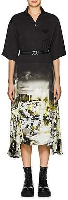 Prada Women's Photo-Print Belted Dress