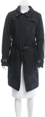 Barbour Shadow Leather-Trimmed Coat w/ Tags $295 thestylecure.com