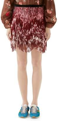 Gucci Sequin Tweed Skirt