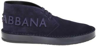 Dolce & Gabbana Dolce & Gabban Derby In Suede Skin Blue Color
