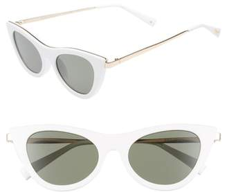 Le Specs Enchantress 50mm Cat Eye Sunglasses