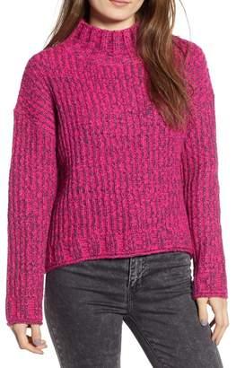 BP Cozy Stitch Mock Neck Sweater