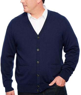 Co THE FOUNDRY SUPPLY The Foundry Big & Tall Supply Mens Long Sleeve Cardigan - Big and Tall