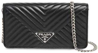 Prada Quilted Nappa Leather Chain Shoulder Bag