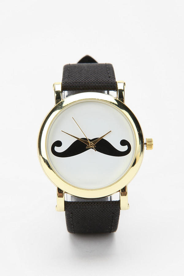 Urban Outfitters Mustache Watch