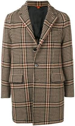 Barena plaid single breasted coat