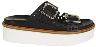 Tod's (トッズ) - Tod's Buckle Platform Sandals