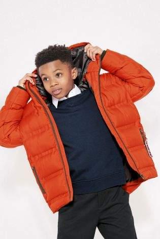 Boys Orange Padded Jacket (3-16yrs) - Orange