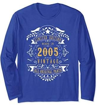 14 years Old Made 2005 14th Birthday Gift Long Sleeve Shirt