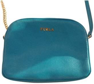 Furla Turquoise Leather Clutch Bag