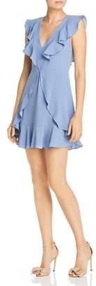 BCBGMAXAZRIA Ruffled Crepe Dress