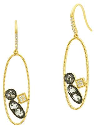 Freida Rothman Rose Dor Open Drop Earrings